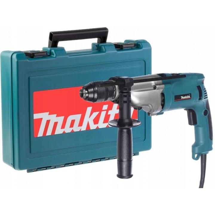 Ударная дрель Makita HP2071 с кейсом