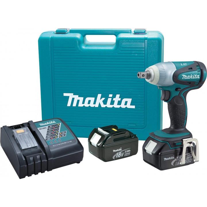 Гайковерт аккумуляторный Makita BTW251RFE с 2 аккумуляторами, ЗУ и кейсом