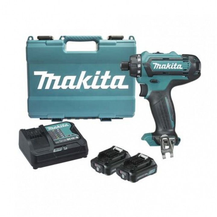 Шуруповерт аккумуляторный Makita DF031DSAE с 2 аккумуляторами, ЗУ и кейсом