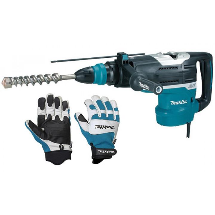 Перфоратор Makita HR5212C с перчатками (XL)