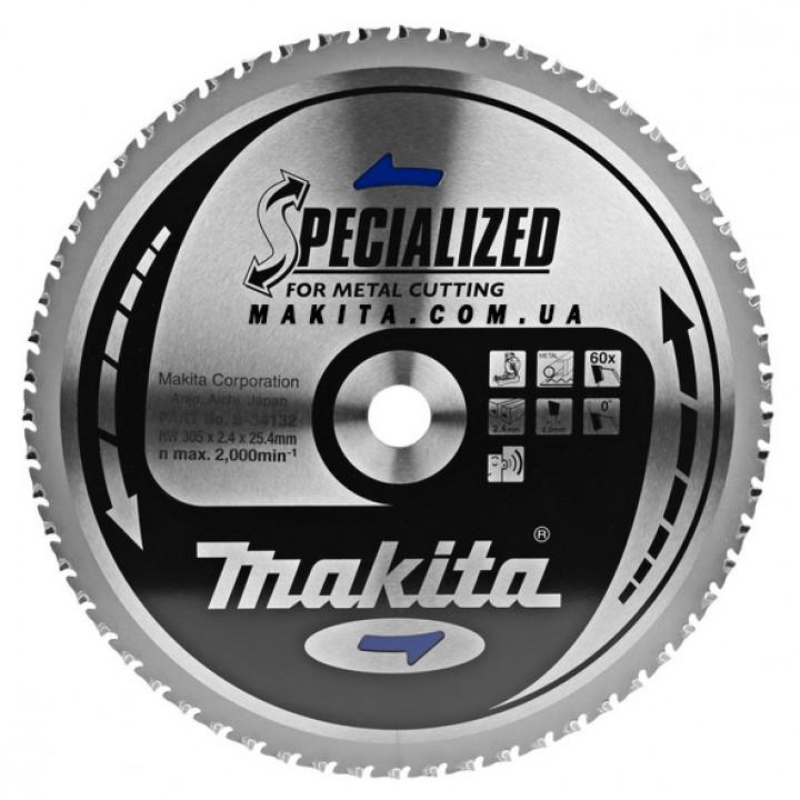 Диск пильный по стали Makita SPECIALIZED 305x25,4 мм 60 зубьев (B-34132)