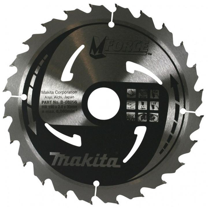 Диск пильный Makita MForce 190 мм 24 зуба (B-08056)
