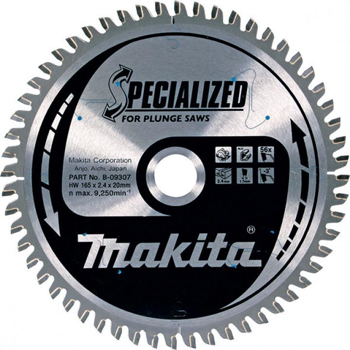Диск пильный Makita для погружных пил SPECIALIZED 165x20 мм 56T (B-09307)