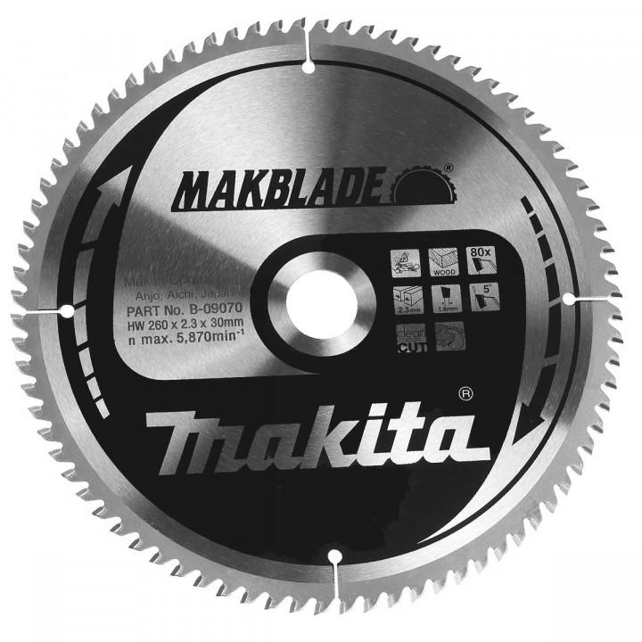 Диск пильный Makita MAKBlade 260 мм 80 зубьев (B-09070)