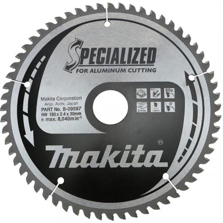 Диск пильный Makita для алюминия 190х30 мм 60 зубьев (B-09597)