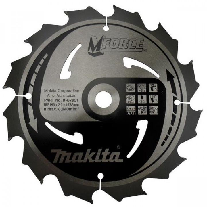 Диск пильный Makita MForce 190 мм 12 зубьев (B-07951)