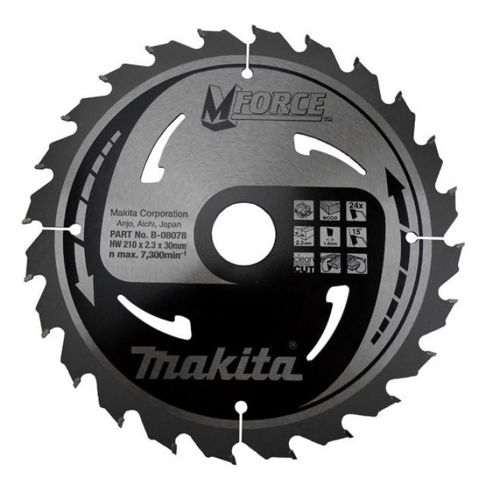 Диск пильный Makita MForce 210 мм 24 зуба (B-08078)