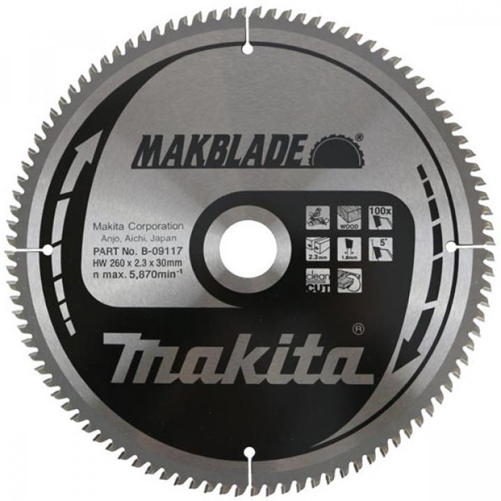 Диск пильный Makita MAKBlade 260 мм 100 зубьев (B-09117)