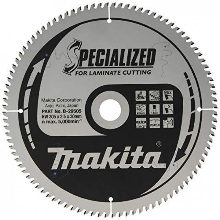Диск пильный Makita SPECIALIZED для ламината 305х30 мм 96T (B-29505)
