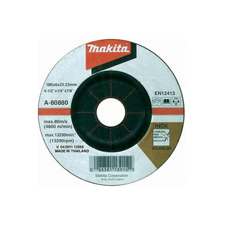 Диск зачистной по нержавейке выгнутый Makita 180 мм (A-80880)
