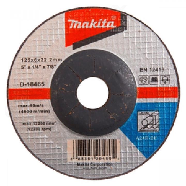 Диск зачистной по металлу Makita 125 мм A24R (D-18465)