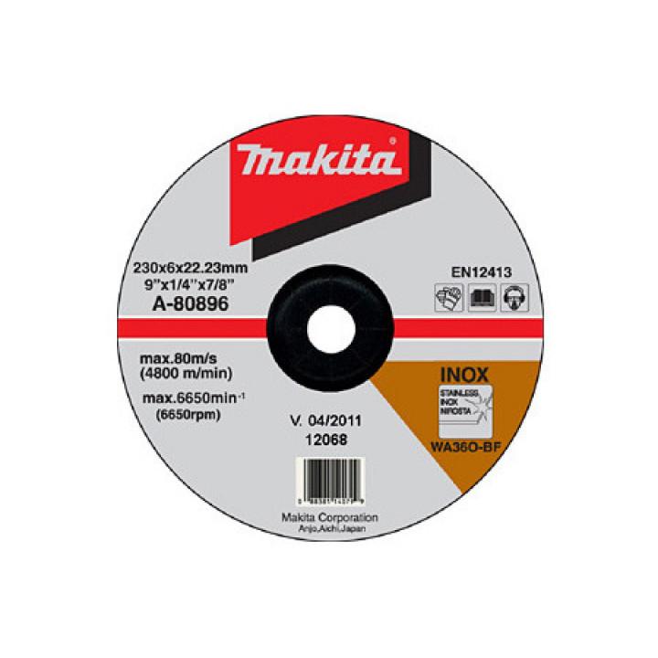 Диск зачисной по нержавейке выгнутый Makita 230 мм (A-80896)