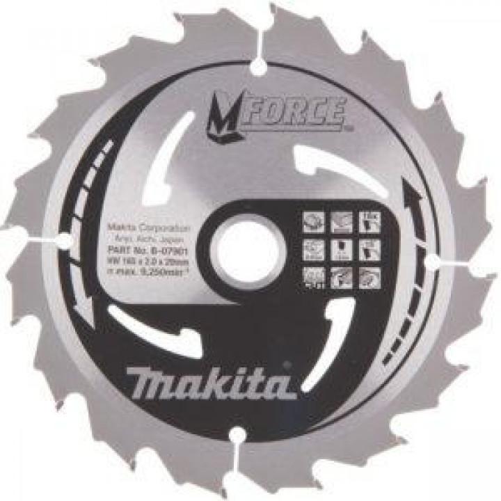 Диск пильный Makita MForce 165 мм 16 зубьев (B-07901)