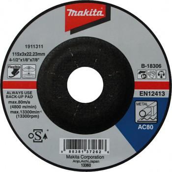 Шлифовальный круг по металлу гибкий 115 мм Makita (B-18306)