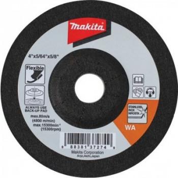 Шлифовальный круг по нержавеющей стали гибкий 115 мм Makita (B-18502)