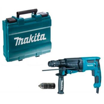 Перфоратор Makita HR2630T с быстросъемным патроном и кейсом